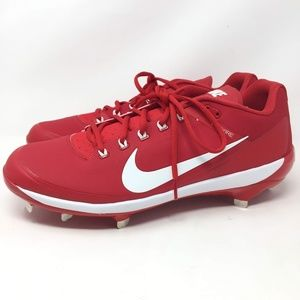Nike Air Clipper Red Low Baseball Cleats Metal 14